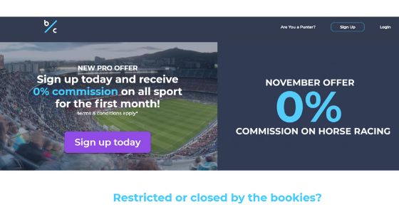 Betconnect new pro offer 0% commission