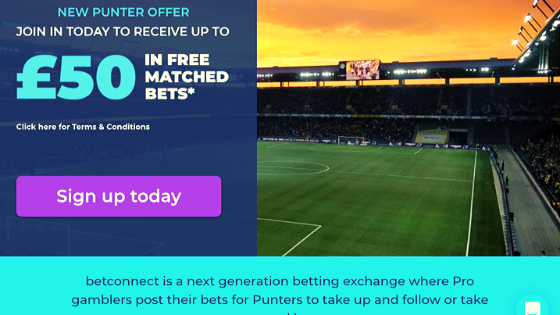 Betconnect new customer sign up offer